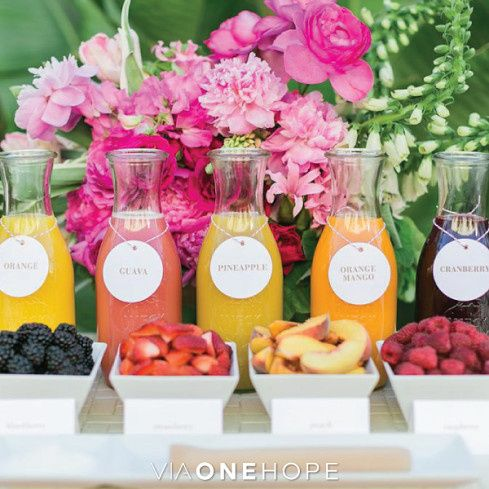 juice bar for mimosas