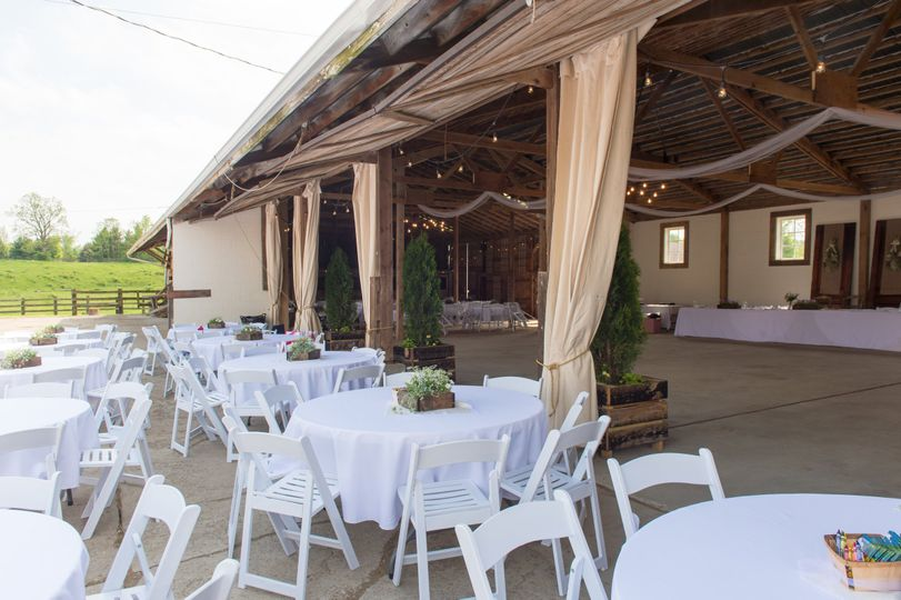 Under the twilight patio used for additional seating or dancing under the stars!