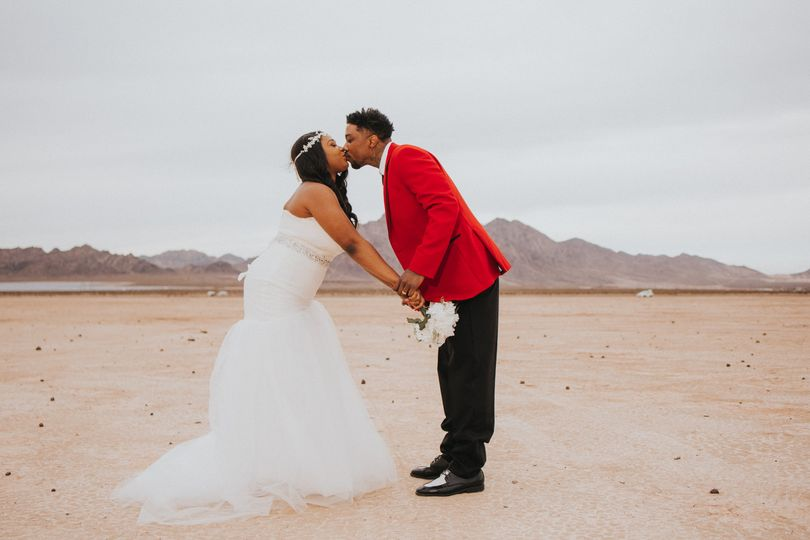 Kissing in the desert...