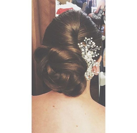 Updo for the big day
