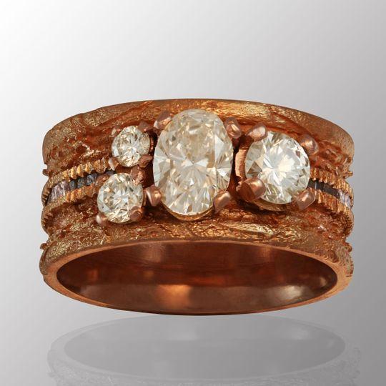 Diamond & rose gold band