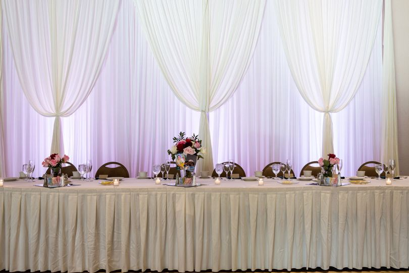 White table setup