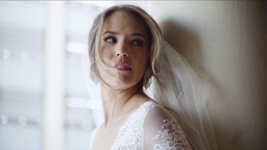 The bride's glance
