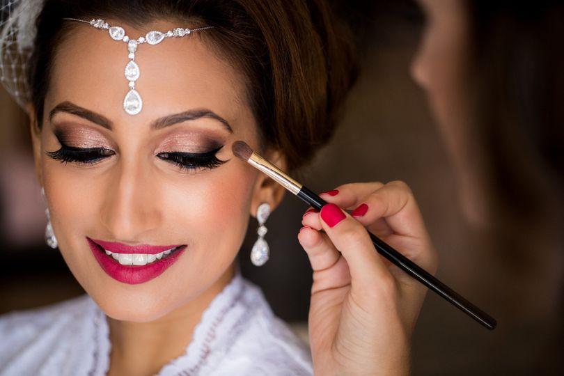 beautiful indian wedding bride groom makeup
