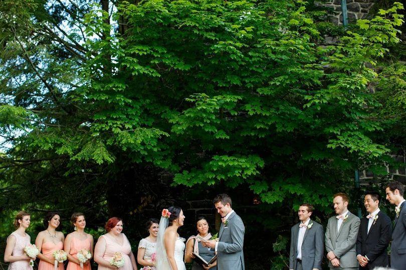 Garden Ceremony at Homewood, Asheville NC