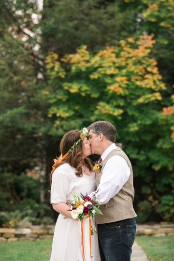 Fall Wedding in Homewood's Garden Ceremony Site, Asheville NC