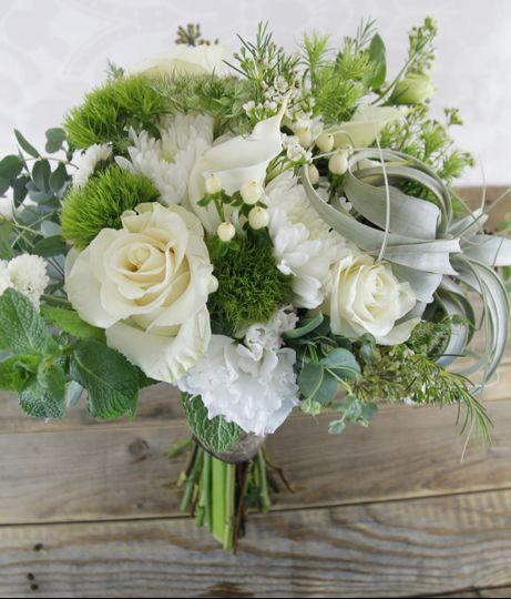 wedding bouquet postcard 9566