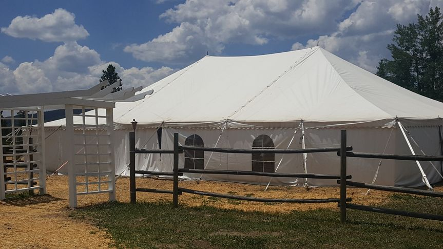 Tent from ceremony site