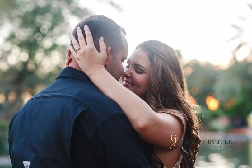Parkland FL best engagement photographer. Couple sharing an intimate moment.