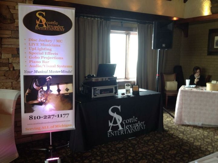 Scottie Alexander Entertainment bridal event with Whimsical Occasions.