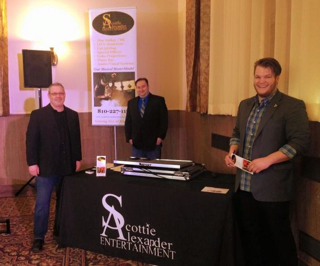 L to R: Kenny Privett, Mitch Ling & Caleb Wimbrow @ Whimsical Occasion Bridal Event. The Inn at St...