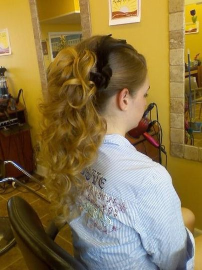 Amanda, she was going to her prom! She had the hair and all we needed was me! As you can see we gave...