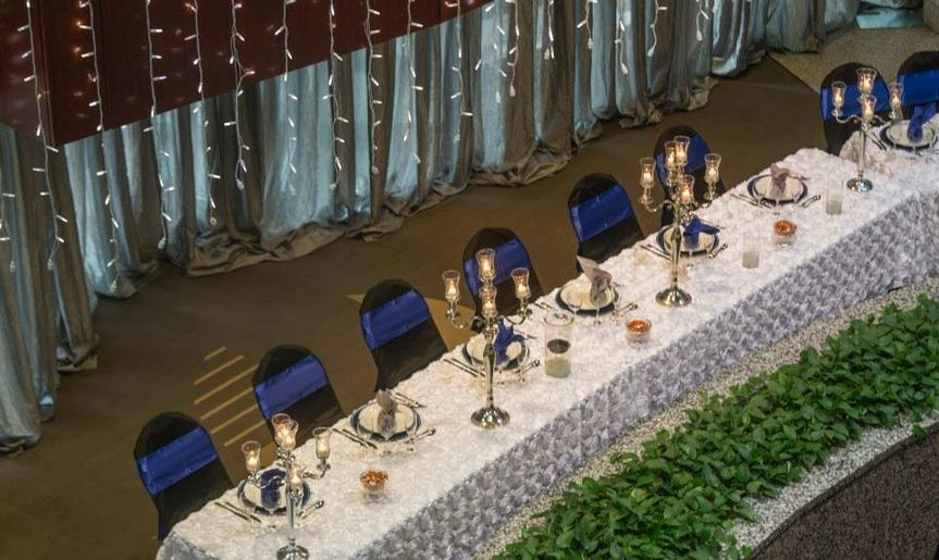 head table from above