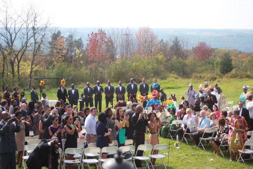 Speakers for outdoor ceremony