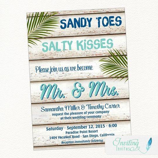 sandytoesweddinginvitation