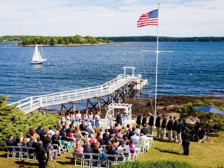 Tmx 1481562052876 Ceremony Photo With Flag Boothbay Harbor, ME wedding venue