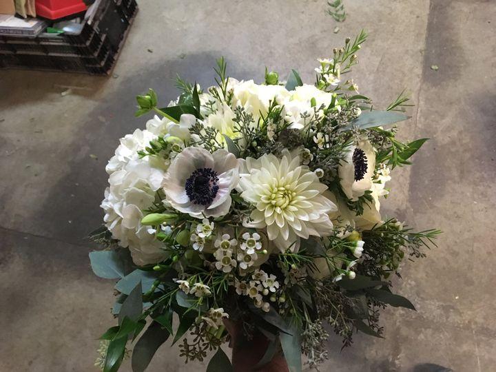 Anemone and dahlia bouquet