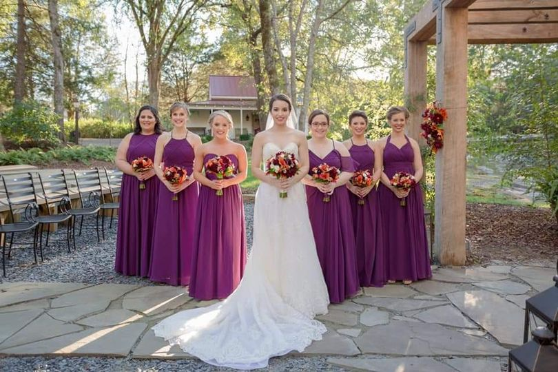 Stephanie and her bridesmaids