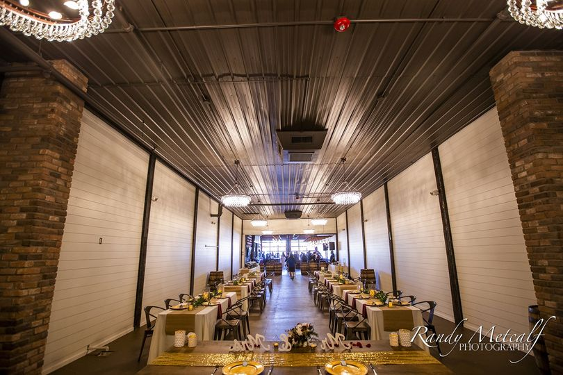 Decorated banquet hall