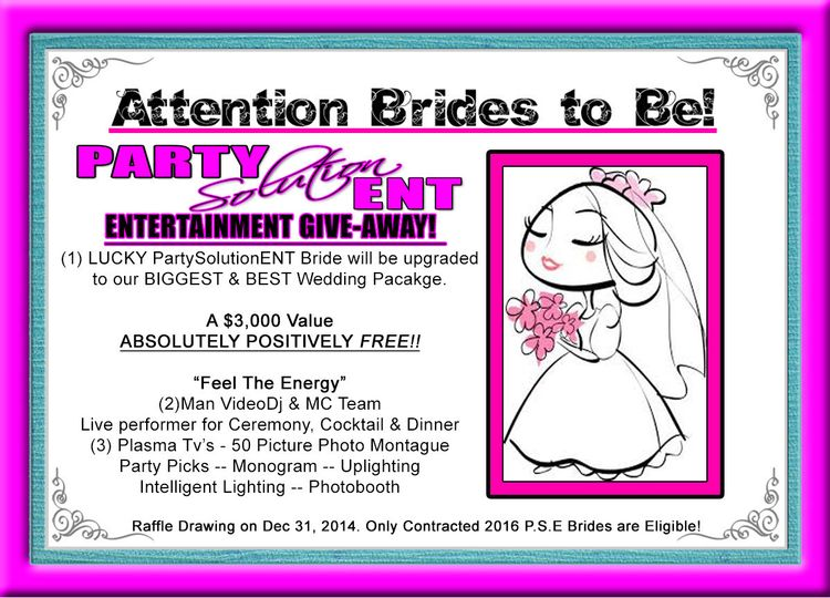 "2016 ""Feel the Energy"" Wedding Package Giveaway!!"