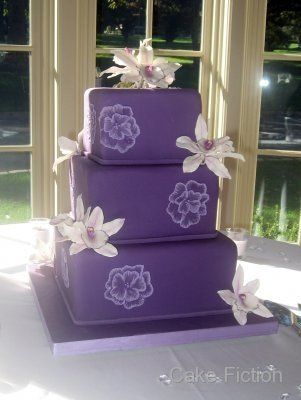 Tmx 1310180218498 CymbidiumOrchidsPurpleWeddingCake Long Valley, New Jersey wedding cake