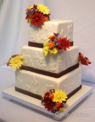 Tmx 1310180292707 FallWeddingCakewithChrysanthemumsandDahlias Long Valley, New Jersey wedding cake