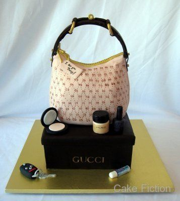 Tmx 1310180474541 GucciHandbagandBoxBridalShowerCake Long Valley, New Jersey wedding cake