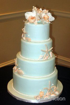 Tmx 1310180603429 SeashellsandCattleyaOrchidsWeddingCake Long Valley, New Jersey wedding cake