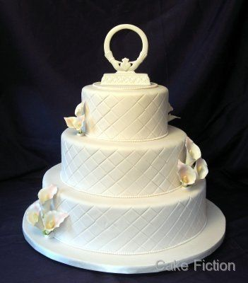 Tmx 1310181514361 QuiltedIvoryWeddingCakewithCallaLillies Long Valley, New Jersey wedding cake