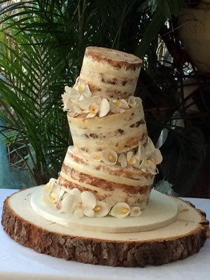 Tmx 1509937737293 Naked Topsy Turvy Cake With Calla Lilies Long Valley, New Jersey wedding cake