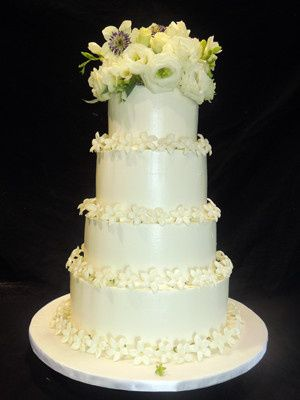 Tmx 1509937966982 Buttercream Wedding Cake With Fresh Stephanotis An Long Valley, New Jersey wedding cake
