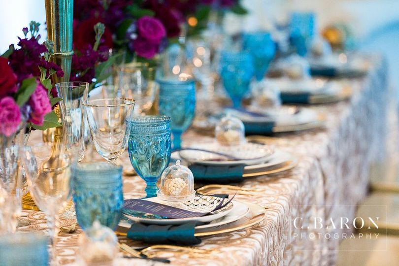 Close up Head Table
