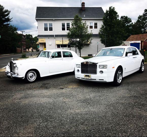 Two white limos