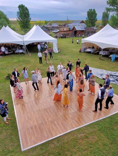 Guests enjoying a dance