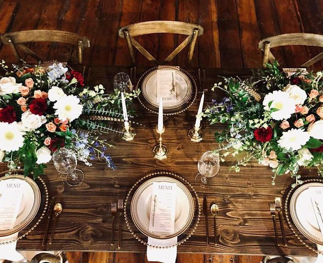 Rustic event tables