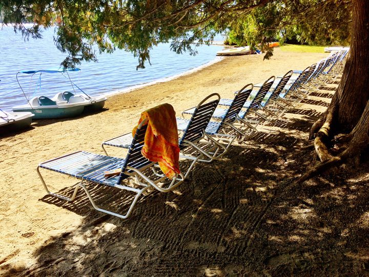 Relax on our sandy beach