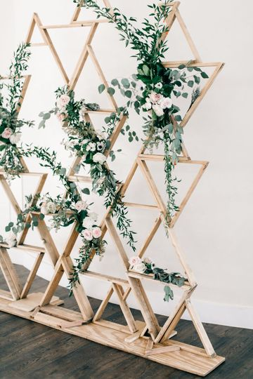 Plant and wood decor