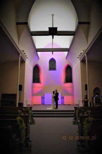 Lighted basilica