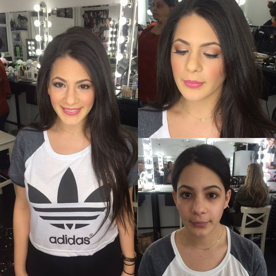 A romantic look - before & after