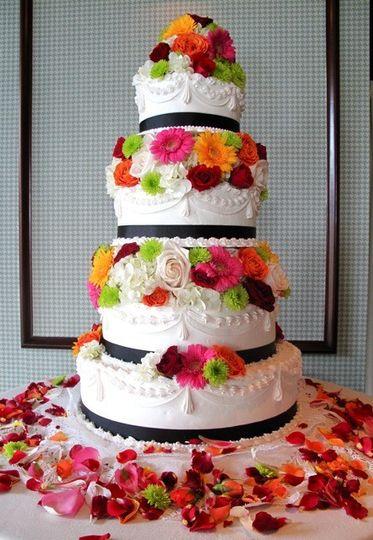 fresh flowered cak
