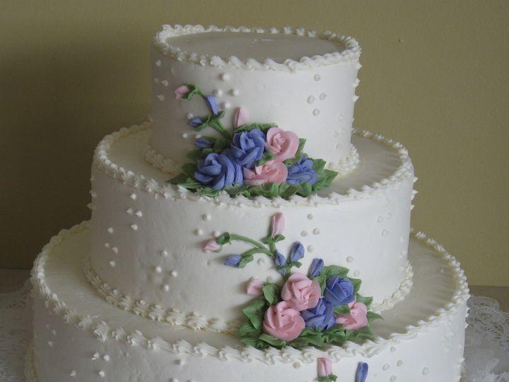 Tmx 1389903297549 4t16 Variation 1 Pink Blue Rose Rochester wedding cake