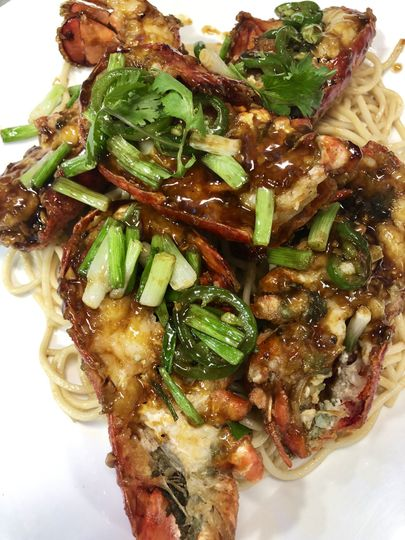 1/2 Lobster and Garlic Noodles
