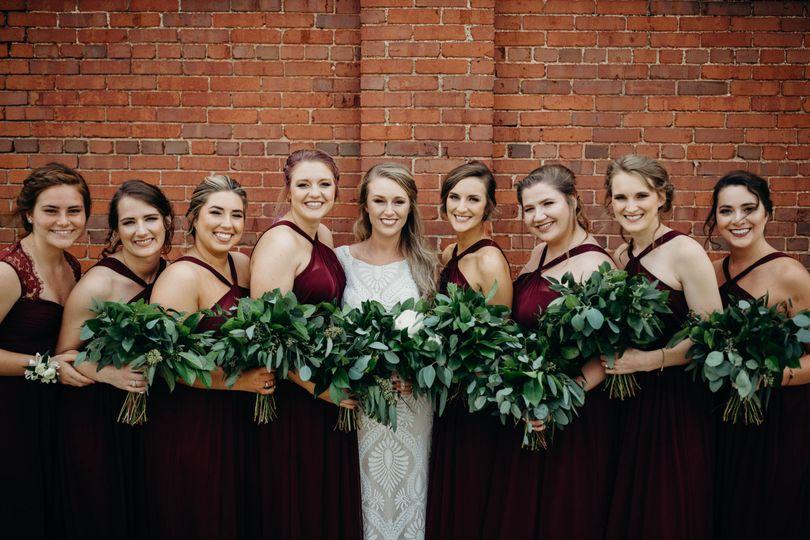 Evan bridal party