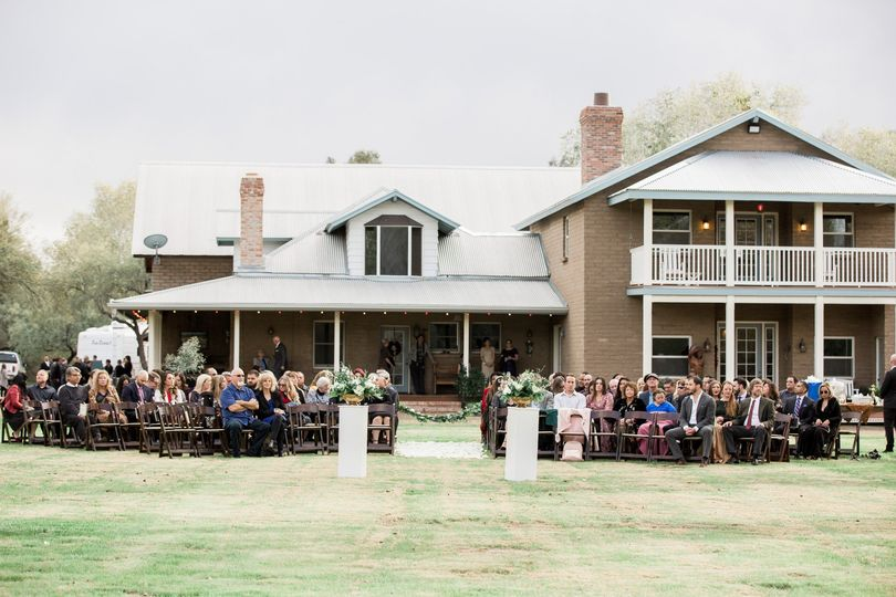 Ceremony on front lawn