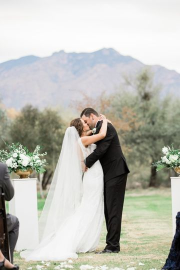 Bride and Groom's First Kiss!