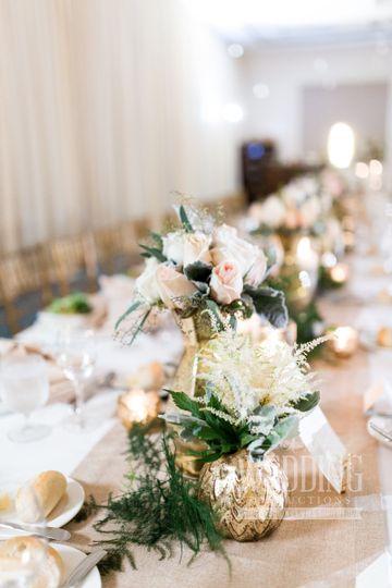 Creamy wedding hues
