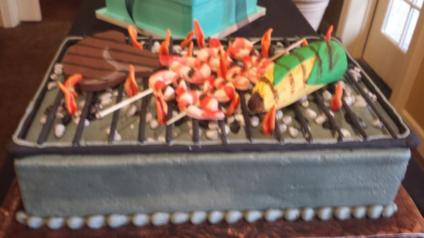 grill and bbq cake