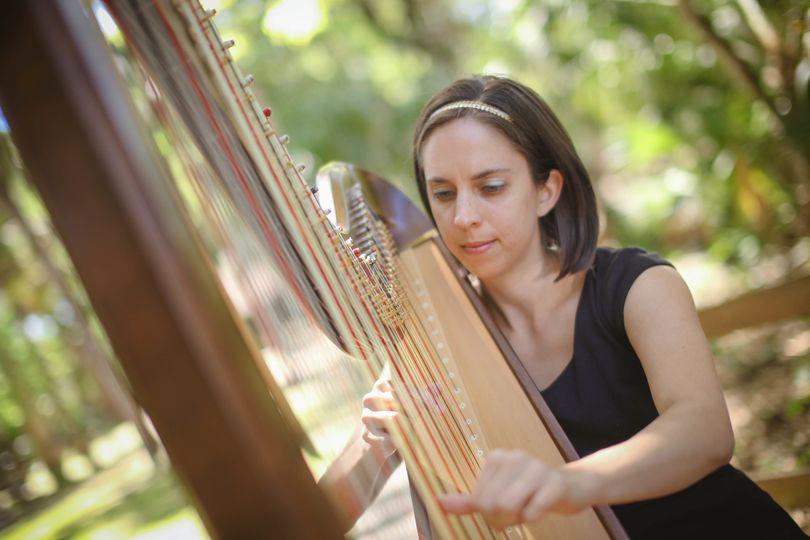 Harpist Rebecca Cosas