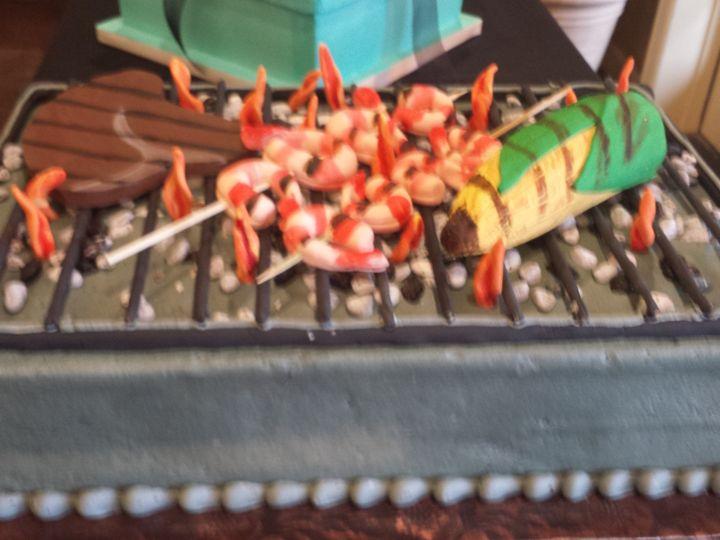 Tmx 1438202132774 Grill And Bbq Cake Houston, TX wedding cake