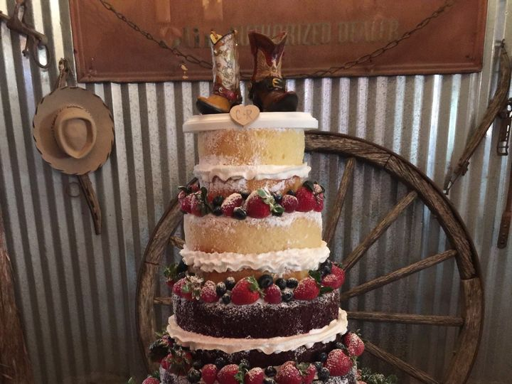 Tmx 1487278291929 Naked Cake With Berries Houston, TX wedding cake